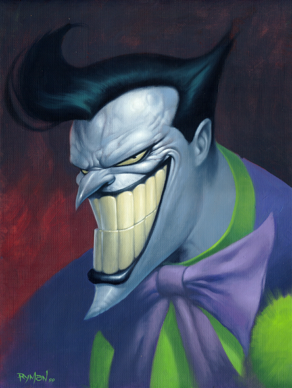 The benevolent joker looks down upon you